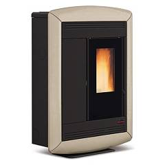 Extraflame Nordica Souvenir Lux Pellet stove forced ovation 10.2 kw canalized tortora - majolica coating