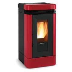 Extraflame Nordica Lucia 12.1 kw ventilated pellet stove bordeaux - majolica coating