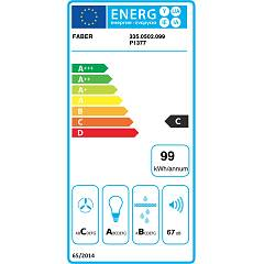Faber CUBIA ISOLA GLOSS PLUS EV8 WH A45 Island hood cm. 45 - white - energy label