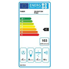 Faber PREMIO CORNER / SP Corner hood cm. 90x90 - stainless steel / glass - energy label