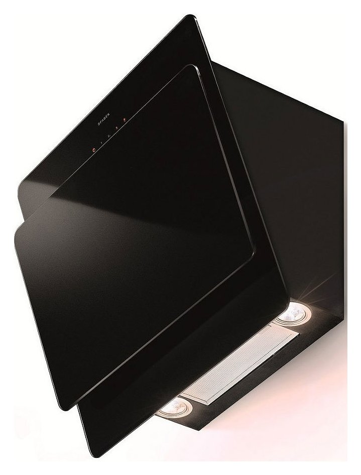 Faber cocktail xs hood wall cm 55 black glass cod 1100205833