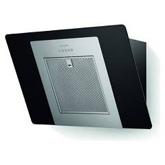 Faber Casual Eg5 Bk/x F80 80 cm wall hood - stainless steel / black glass