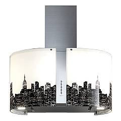 Falmec New York Wall hood cm. 67 - stainless steel - engine glass 800 m3 / h Mirabilia Round