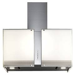 Falmec Platinum Maxi island hood cm. 85 - stainless steel - tempered glass engine 800 m3 / h Mirabilia Square
