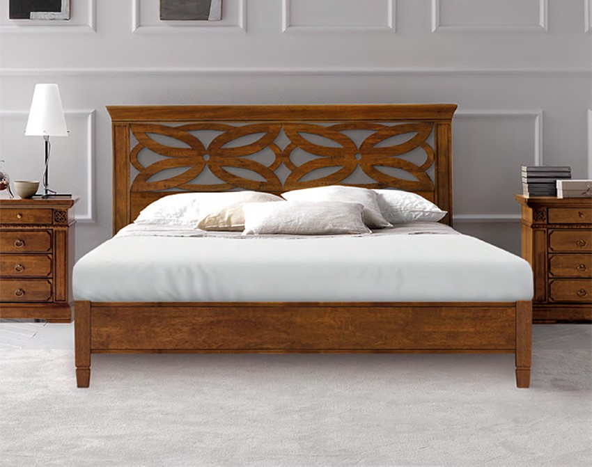 Photos 1: Fgf RICORDI TRAFORATO Double bed in wood