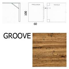 Fgf E964 L'extension de 60x100 groove