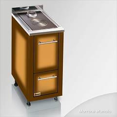 Focus Lem Wooden cooking hot air natural convection - brown shaded hinges left door