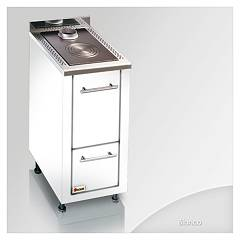 Focus Lem Kitchen wood hot air convection natural - white hinges door rh