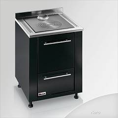Focus Botafogo Kitchen wood hot air convection natural - black hinges door lh