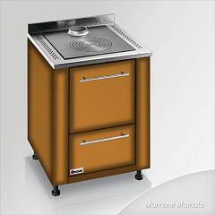 Focus Botafogo Wooden cooking hot air natural convection - brown shaded hinges door right