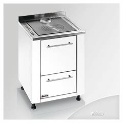 Focus Botafogo Kitchen wood hot air convection natural - white hinges door rh