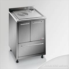 Focus Maracanà Cooking wood ventilated hot air - inox exhaust fumes upper right