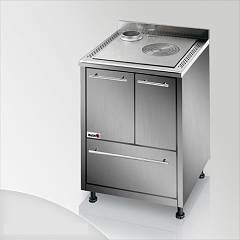 Focus Maracanà Cooking wood ventilated hot air - inox exhaust fumes upper left