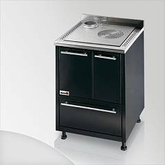 Focus Maracanà Wood cooking ventilated hot air - black exhaust fumes top left