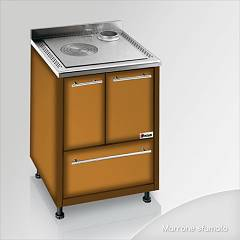 Focus Maracanà Cooked wood ventilated hot air - brown shaded exhaust fumes top right