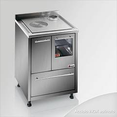 Focus Urca Cooking wood ventilated hot air - inox exhaust fumes upper right