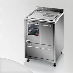 Focus Urca Cooking wood ventilated hot air - inox exhaust fumes upper left
