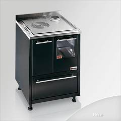 Focus Urca Cooking wood ventilated hot air - black exhaust fumes top right