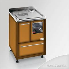 Focus Urca Cooked wood ventilated hot air - brown shaded exhaust fumes top right