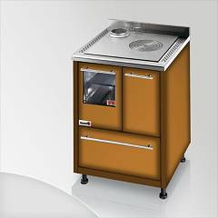 Focus Urca Cooked wood ventilated hot air - brown shaded exhaust fumes top left