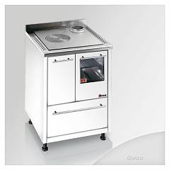Focus Urca Cooked wood ventilated hot air - white exhaust fumes top right