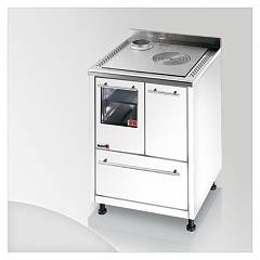 Focus Urca Cooking wood ventilated hot air - white exhaust fumes top left