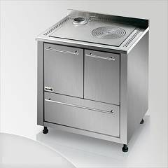 Focus Ipanema Kitchen wood hot air convection natural - inox exhaust fumes upper left