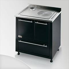 Focus Ipanema Kitchen wood hot air convection natural - black exhaust fumes top left