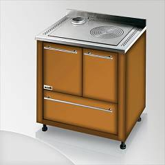 Focus Ipanema Kitchen wood hot air convection natural - brown shaded exhaust fumes top left