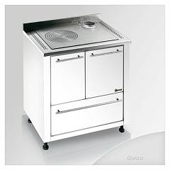 Focus Ipanema Kitchen wood hot air convection natural - white exhaust fumes top right