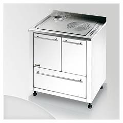 Focus Ipanema Kitchen wood hot air convection natural - white exhaust fumes top left