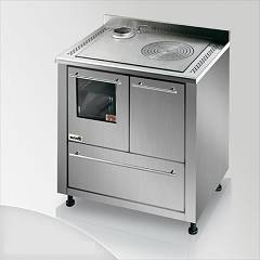 Focus San Corrado Kitchen wood hot air convection natural - inox exhaust fumes upper left