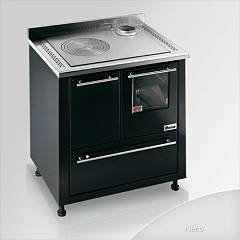 Focus San Corrado Wooden cooking hot air natural convection - black exhaust fumes top right