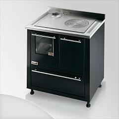 Focus San Corrado Kitchen wood hot air convection natural - black exhaust fumes top left