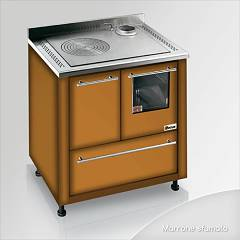 Focus San Corrado Kitchen wood hot air convection natural - brown shaded exhaust fumes top right