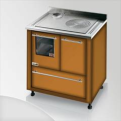 Focus San Corrado Kitchen wood hot air convection natural - brown shaded exhaust fumes top left