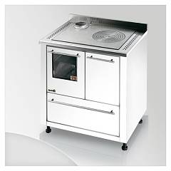 Focus San Corrado Kitchen wood hot air convection natural - white exhaust fumes top left