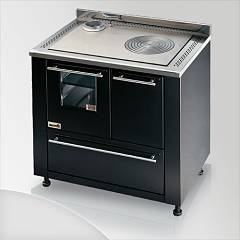 Focus Leblon Kitchen wood hot air convection natural - black exhaust fumes top left