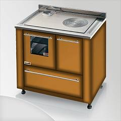 Focus Leblon Kitchen wood hot air convection natural - brown shaded exhaust fumes top left
