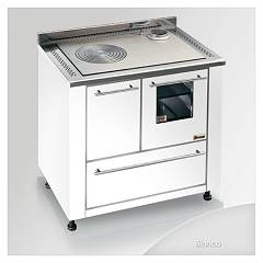 Focus Leblon Kitchen wood hot air convection natural - white exhaust fumes top right