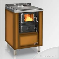 Focus Rio 60 Wooden cooking hot air natural convection 8 kw - shaded brown