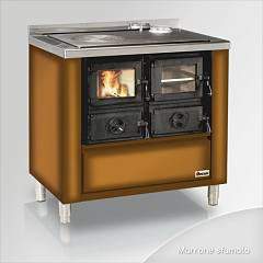 Focus Rio 80 Cooking wood hot air convection natural 9 kw - brown shaded exhaust fumes top right