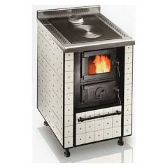 sale Focus Dolomiti 1 Wood Stove Hot Air Ventilated - 8 Kw - White