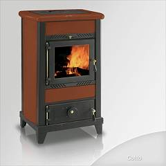 Focus Regina Wood stove hot air natural convection 8 kw - cotto majolica coating