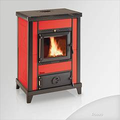 Focus Nido 3 Wood stove hot air natural convection 10 kw - red majolica coating