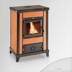 Focus Nido 3 Wood stove hot air natural convection 10 kw - leather majolica covering