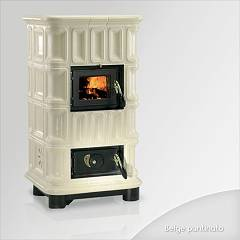 Focus Giada Wood stove hot air natural convection 10 kw - beige majolica coating