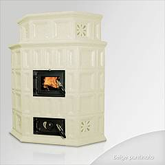 Focus GIADA Wood stove hot air natural convection 10 kw) - beige tiled coating