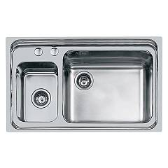 Foster 1485 061 Built-in sink cm. 86 - 1 and a half brushed steel Triplo Invaso