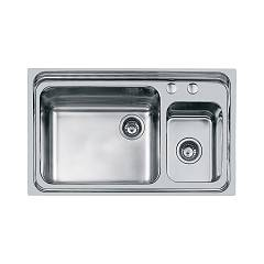 Foster 1485 062 Built-in sink cm. 86 - 1 and a half brushed steel Triplo Invaso